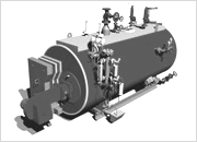 Паровые котлы среднего давления, Steam boiler heat recovery with burner self-fired waste heat